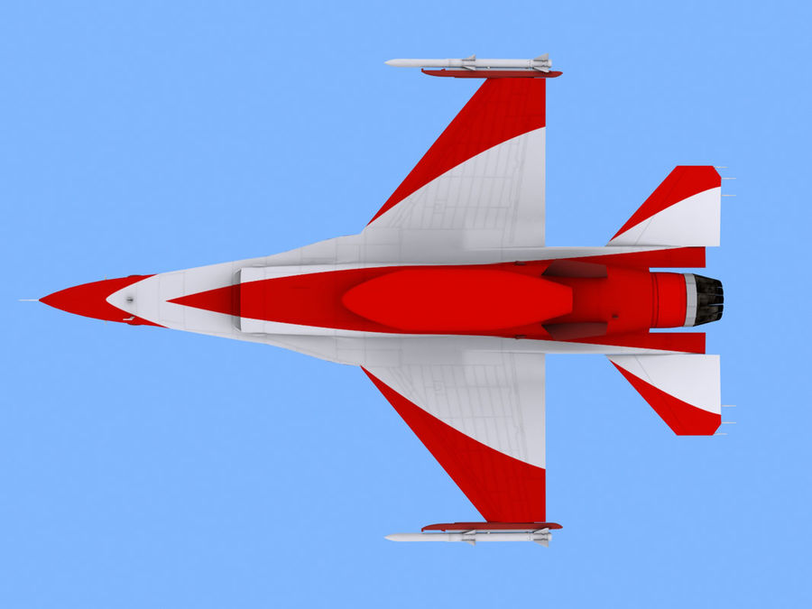 RSAF F16 Black Knights royalty-free 3d model - Preview no. 6
