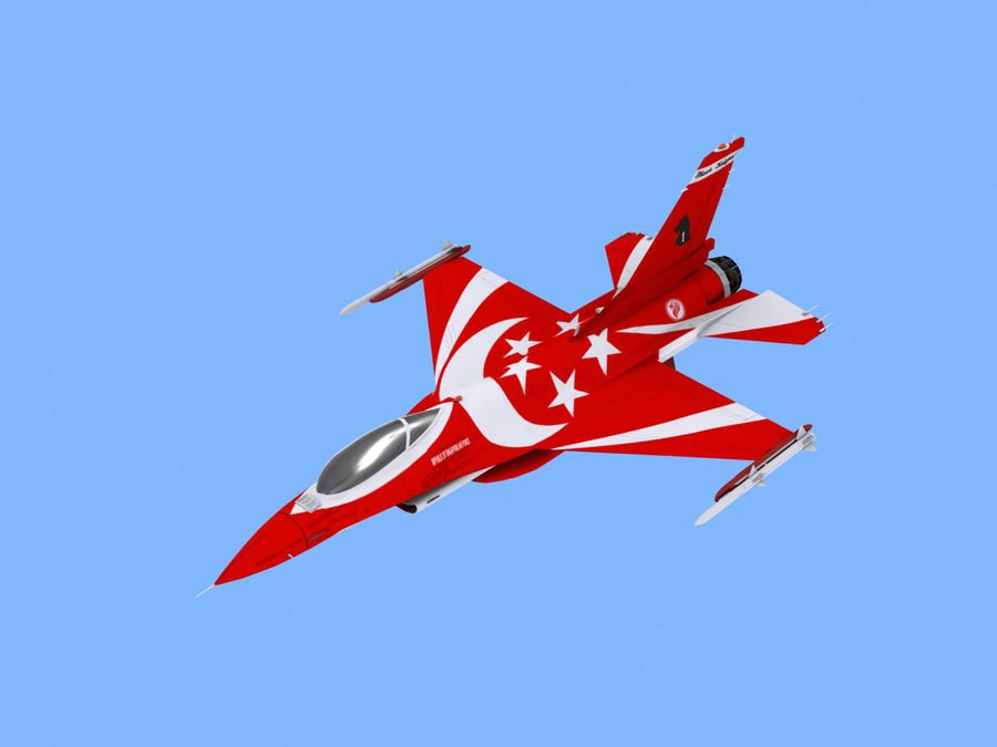 RSAF F16 Black Knights royalty-free 3d model - Preview no. 1