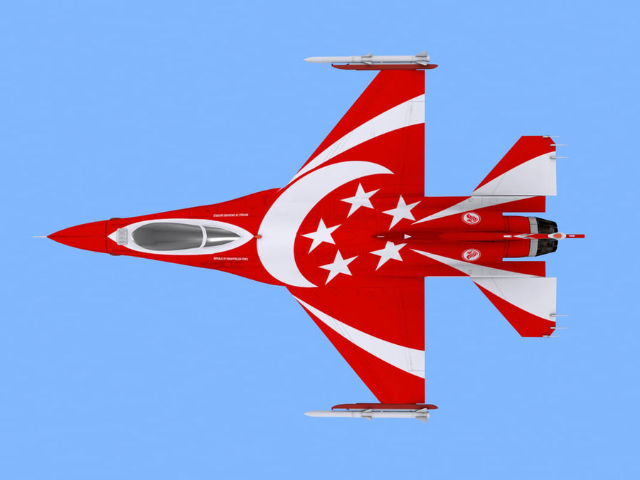 RSAF F16 Black Knights royalty-free 3d model - Preview no. 4