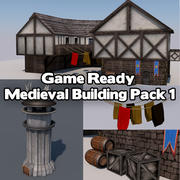Game Ready Medieval Building Pack 3d model