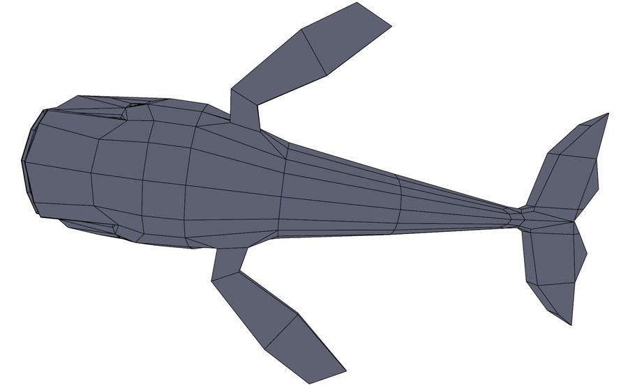 MobyDick-Wal royalty-free 3d model - Preview no. 9
