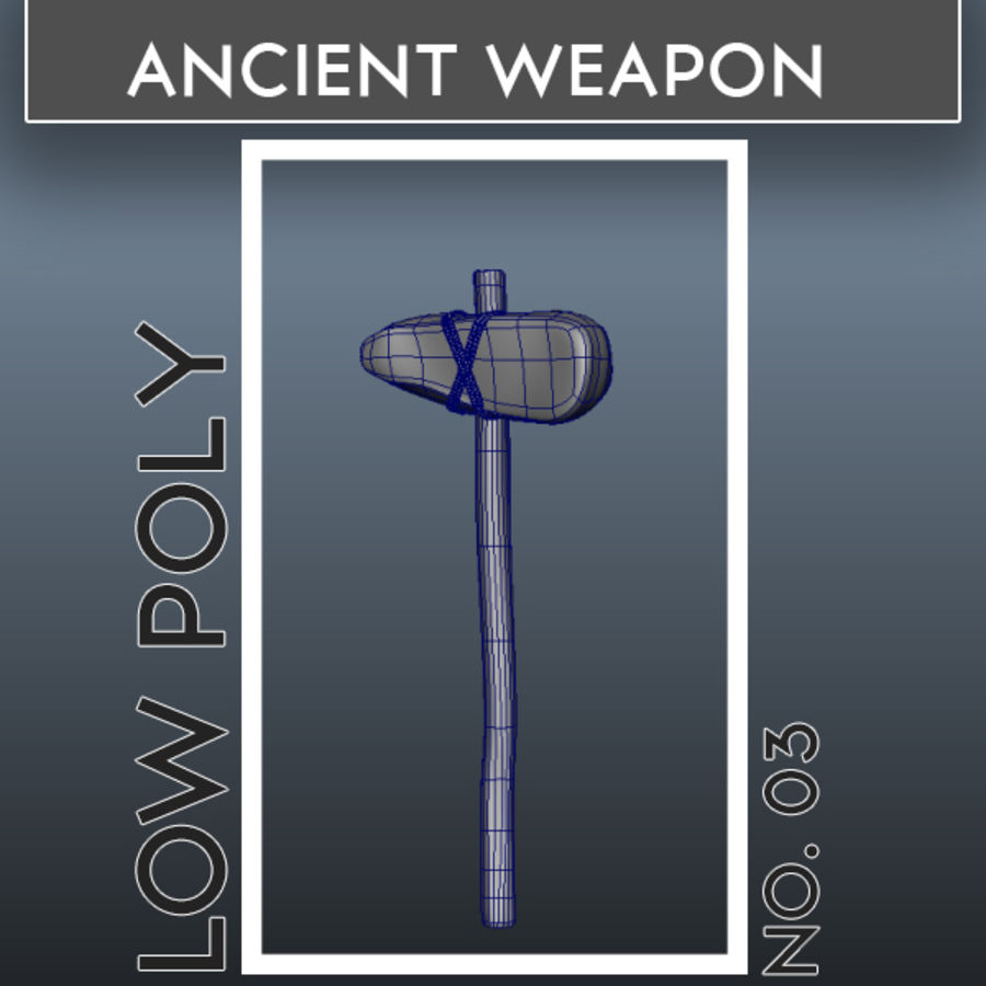 Ancient Weapon_03 royalty-free 3d model - Preview no. 1
