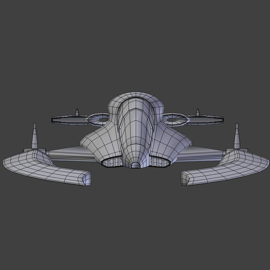 Space Ship royalty-free 3d model - Preview no. 5