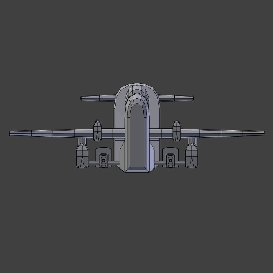 Low Poly Space Ship Bus royalty-free 3d model - Preview no. 3