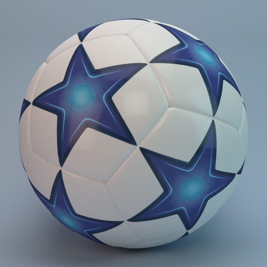 Futbol topu royalty-free 3d model - Preview no. 4
