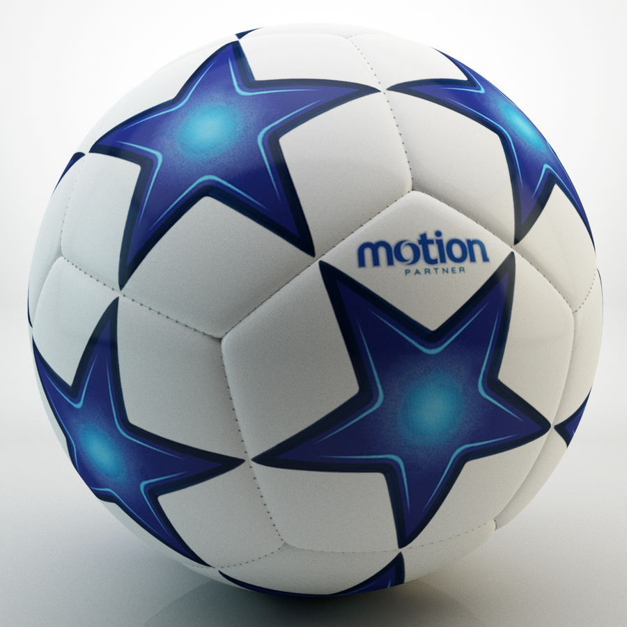Futbol topu royalty-free 3d model - Preview no. 2