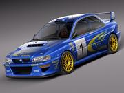 Subaru Impreza STi 22b WRC 1993-2000 3d model