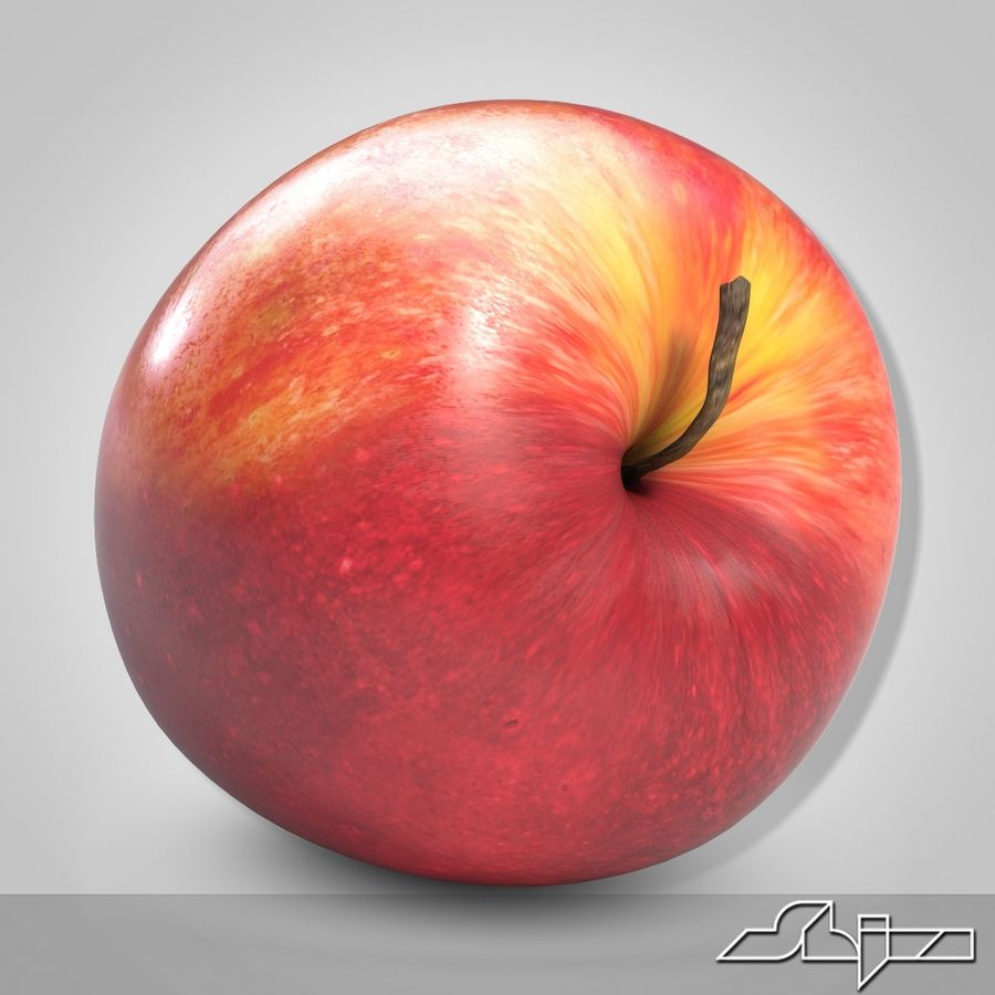Apple Red royalty-free 3d model - Preview no. 4