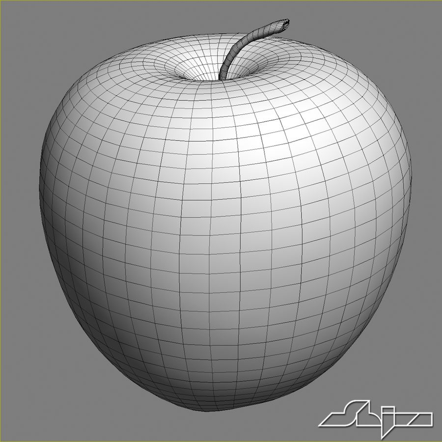 Apple Red royalty-free 3d model - Preview no. 7