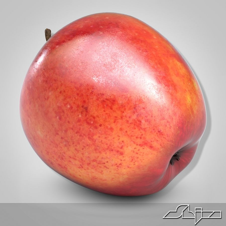 Apple Red royalty-free 3d model - Preview no. 3