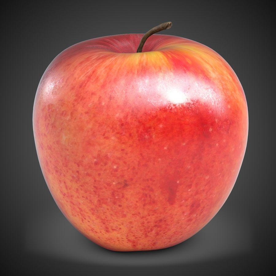 Apple Red royalty-free 3d model - Preview no. 2