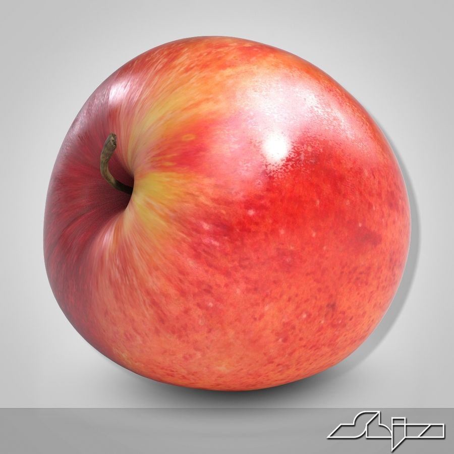 Apple Red royalty-free 3d model - Preview no. 6