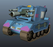 Tank Model Cartoon Style 3 3d model
