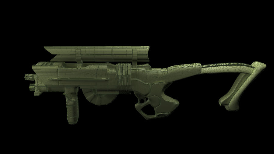 Sci-Fi Rifle(1) royalty-free 3d model - Preview no. 5