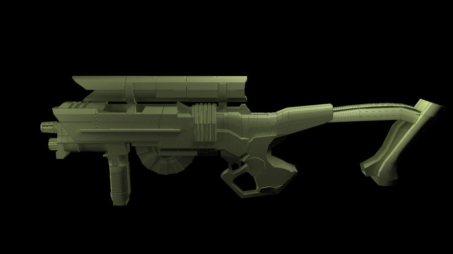Sci-Fi Rifle(1) royalty-free 3d model - Preview no. 4