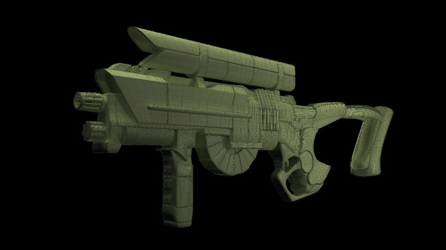 Sci-Fi Rifle(1) royalty-free 3d model - Preview no. 7