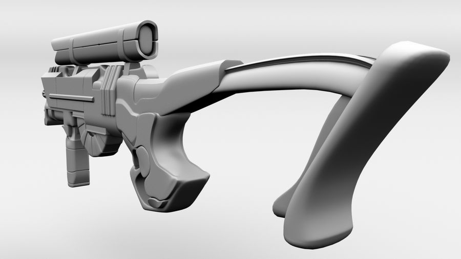 Sci-Fi Rifle(1) royalty-free 3d model - Preview no. 3