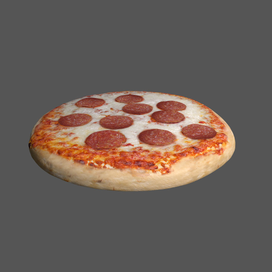 Pepperoni Pizza royalty-free 3d model - Preview no. 2