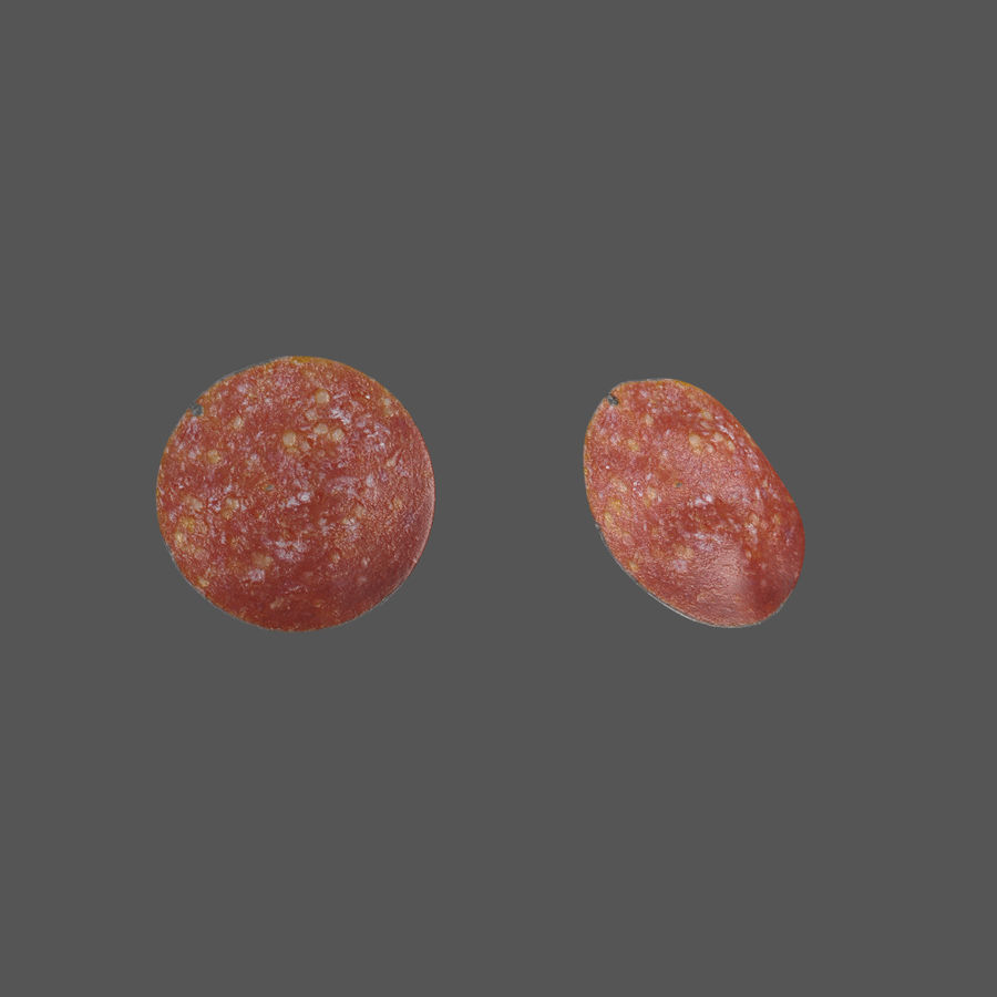 Pepperoni Pizza royalty-free 3d model - Preview no. 4