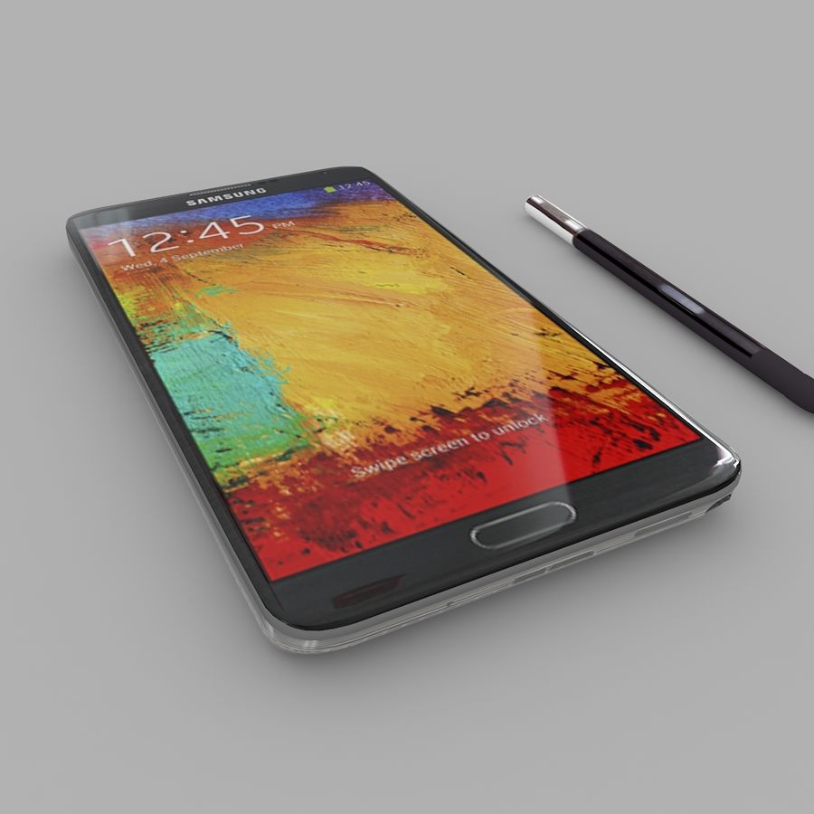 Samsung Galaxy Note 3 royalty-free 3d model - Preview no. 2
