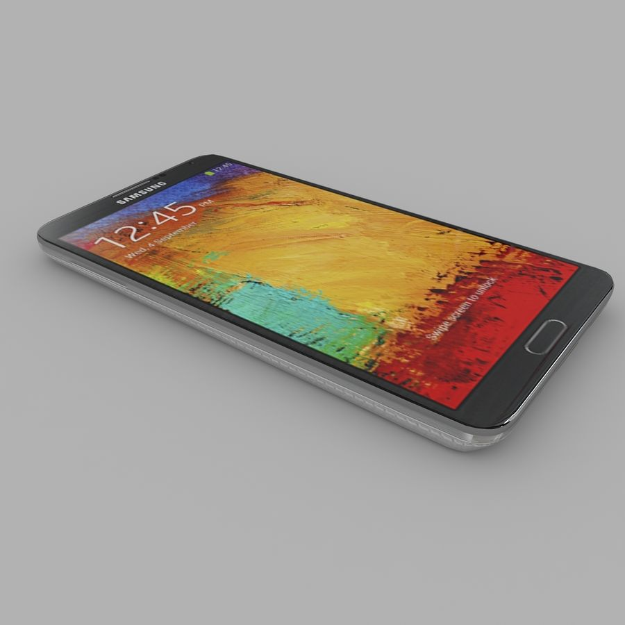 Samsung Galaxy Note 3 royalty-free 3d model - Preview no. 4