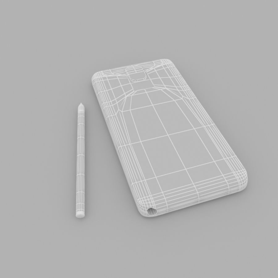 Samsung Galaxy Note 3 royalty-free 3d model - Preview no. 7
