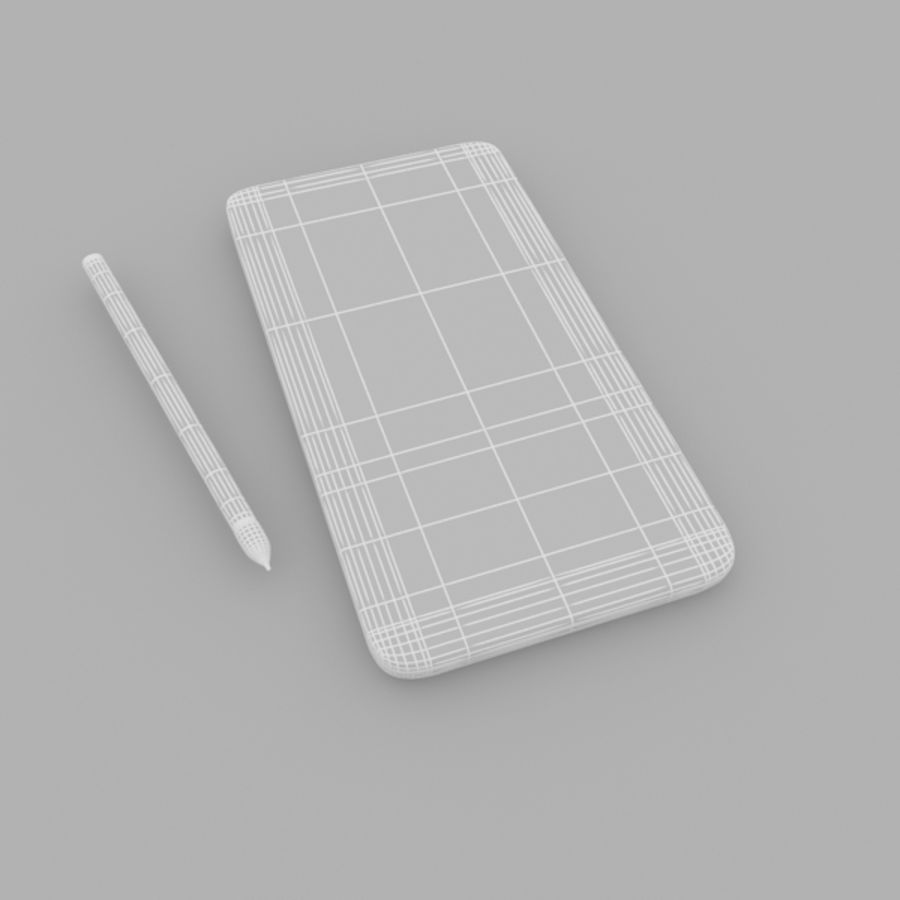 Samsung Galaxy Note 3 royalty-free 3d model - Preview no. 8
