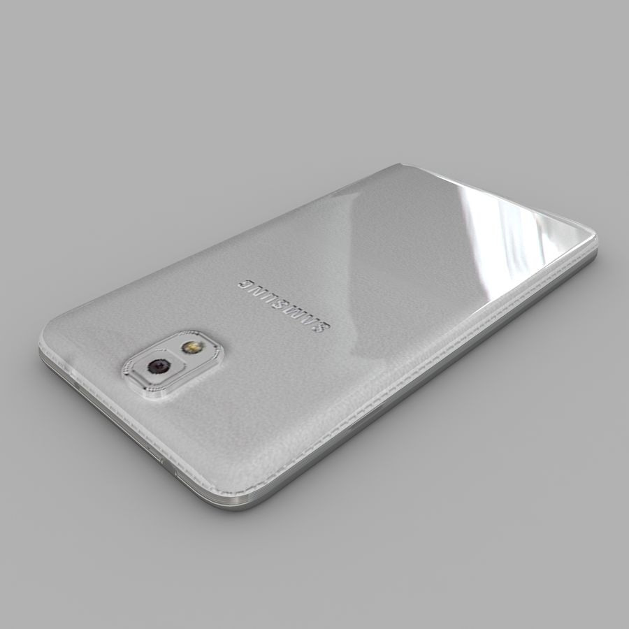Samsung Galaxy Note 3 royalty-free 3d model - Preview no. 5