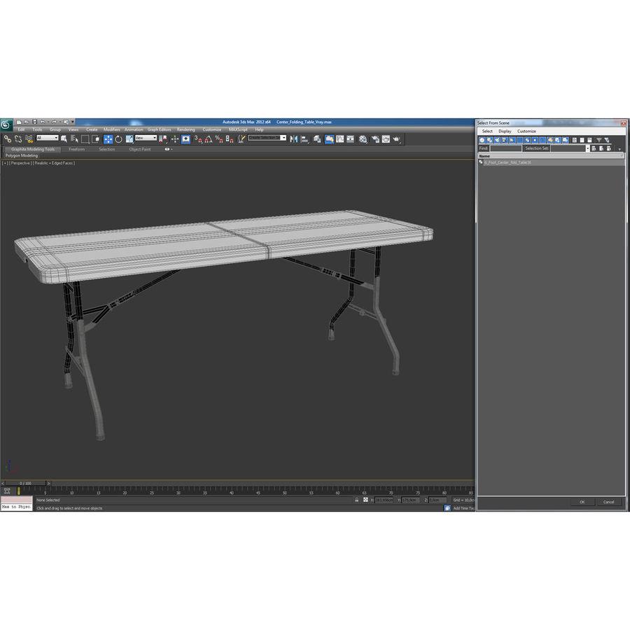 Środkowy stół składany royalty-free 3d model - Preview no. 17