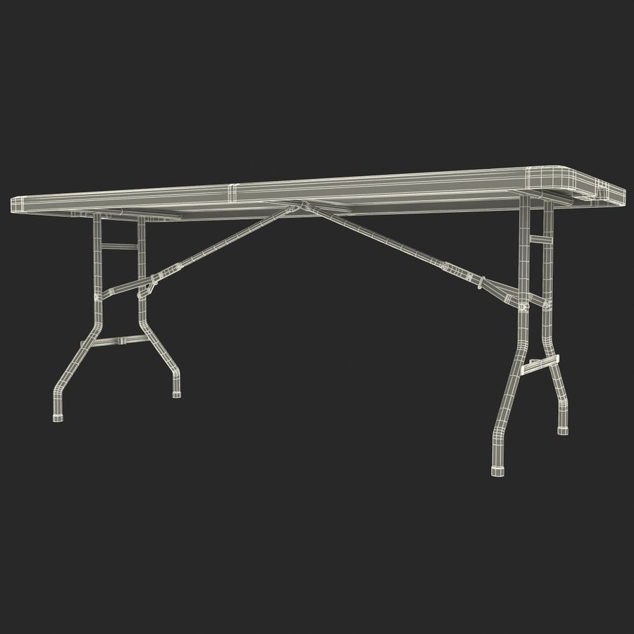 Środkowy stół składany royalty-free 3d model - Preview no. 9