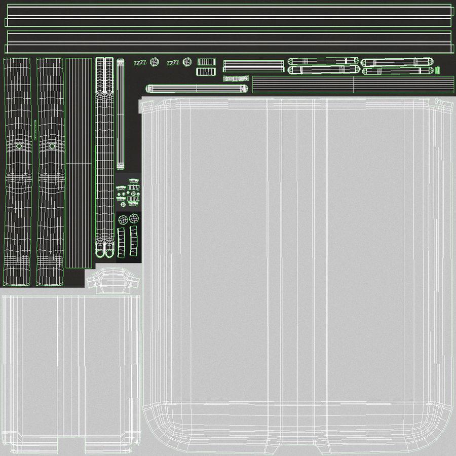 Środkowy stół składany royalty-free 3d model - Preview no. 16