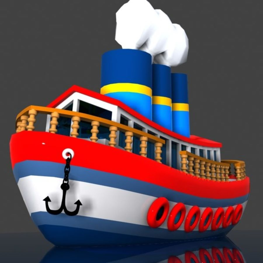 Cartoon Ship royalty-free 3d model - Preview no. 2