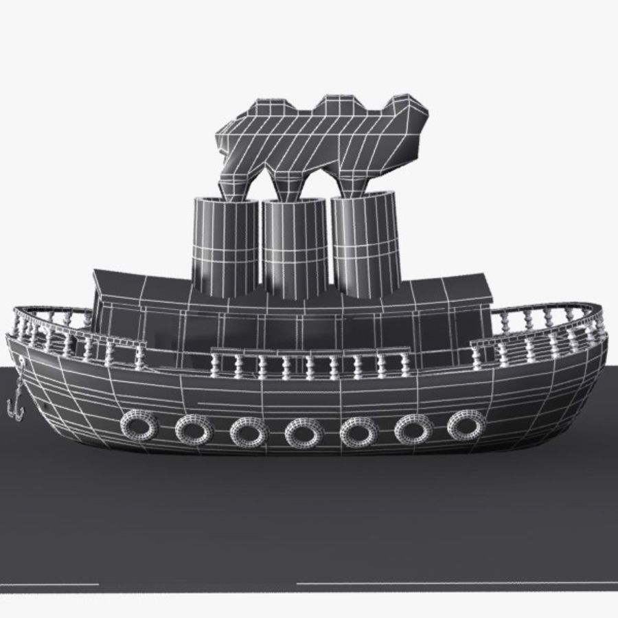 Cartoon Ship royalty-free 3d model - Preview no. 10