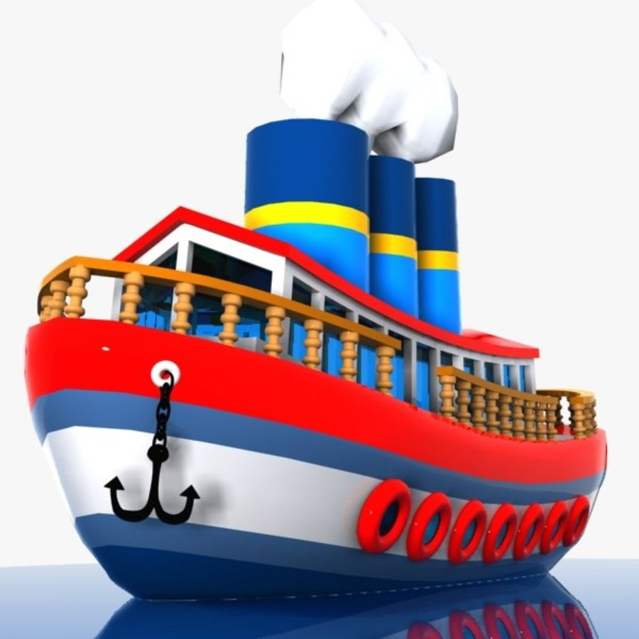 Cartoon Ship royalty-free 3d model - Preview no. 1