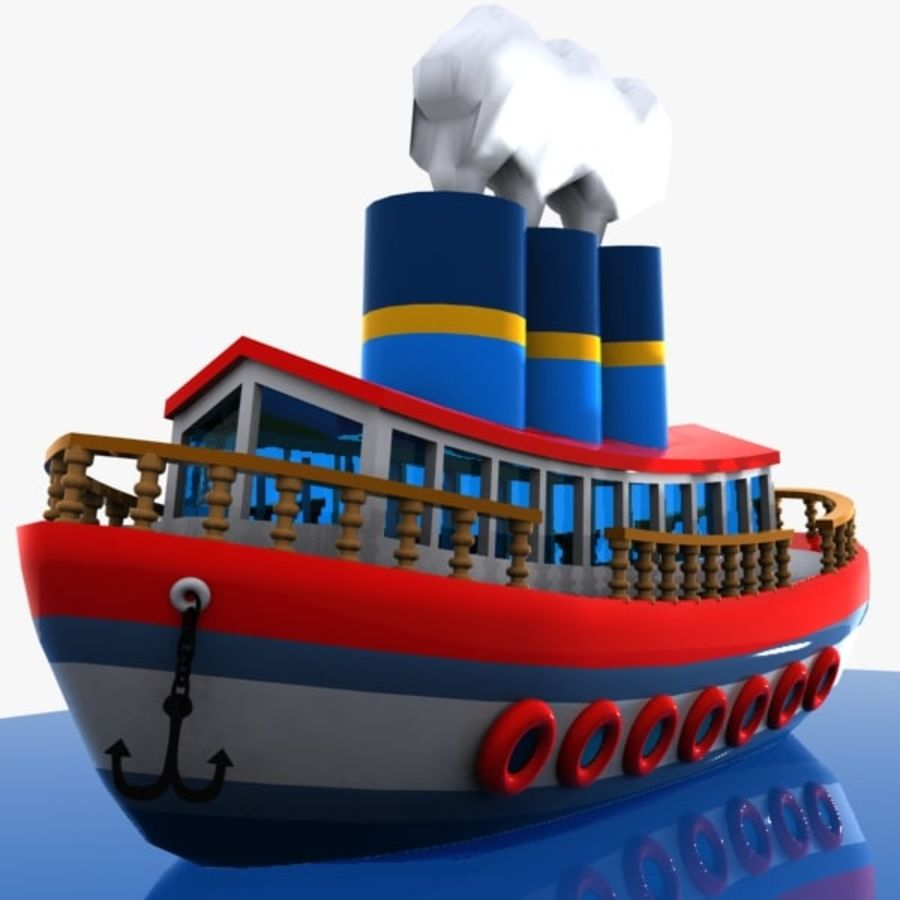 Cartoon Ship royalty-free 3d model - Preview no. 7