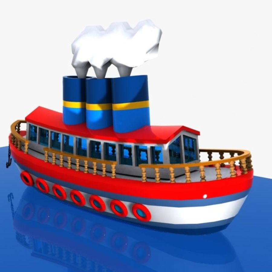 Cartoon Ship royalty-free 3d model - Preview no. 5