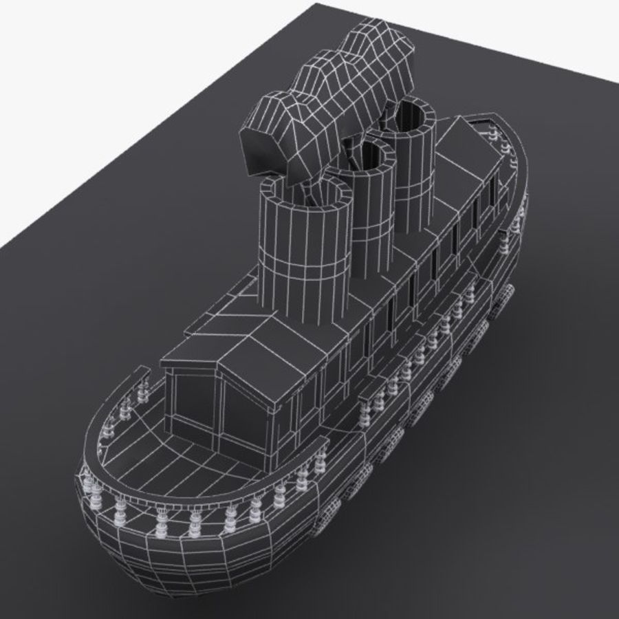 Cartoon Ship royalty-free 3d model - Preview no. 12