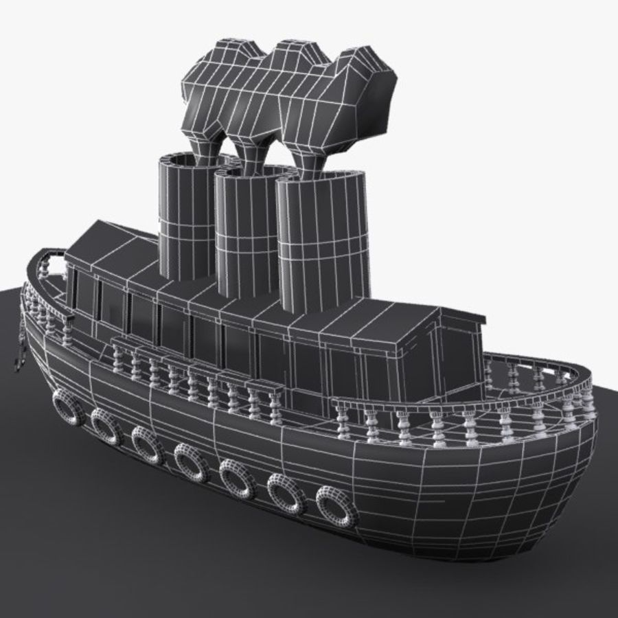 Cartoon Ship royalty-free 3d model - Preview no. 11