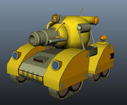 Tank Model Cartoon Style 2 3d model