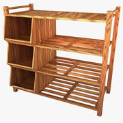 Outdoor Shoe Rack 3d model