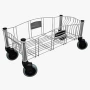 Steel Dolly for Container 3d model