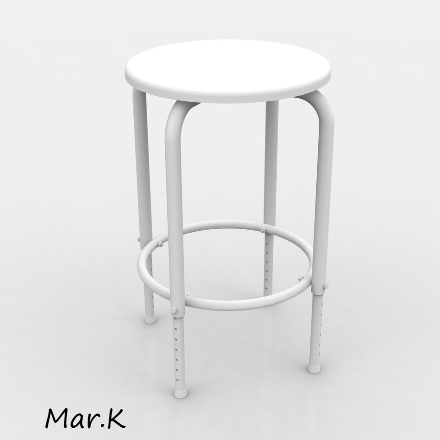 Chair Bar royalty-free 3d model - Preview no. 6