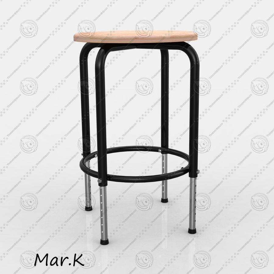 Chair Bar royalty-free 3d model - Preview no. 2