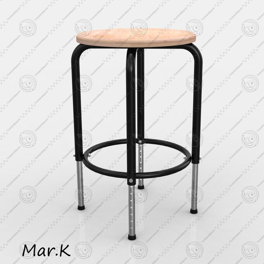 Chair Bar royalty-free 3d model - Preview no. 3