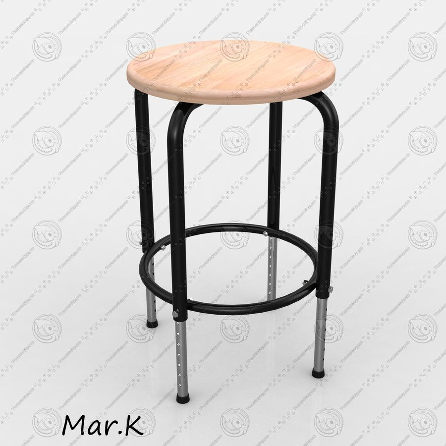 Chair Bar royalty-free 3d model - Preview no. 1