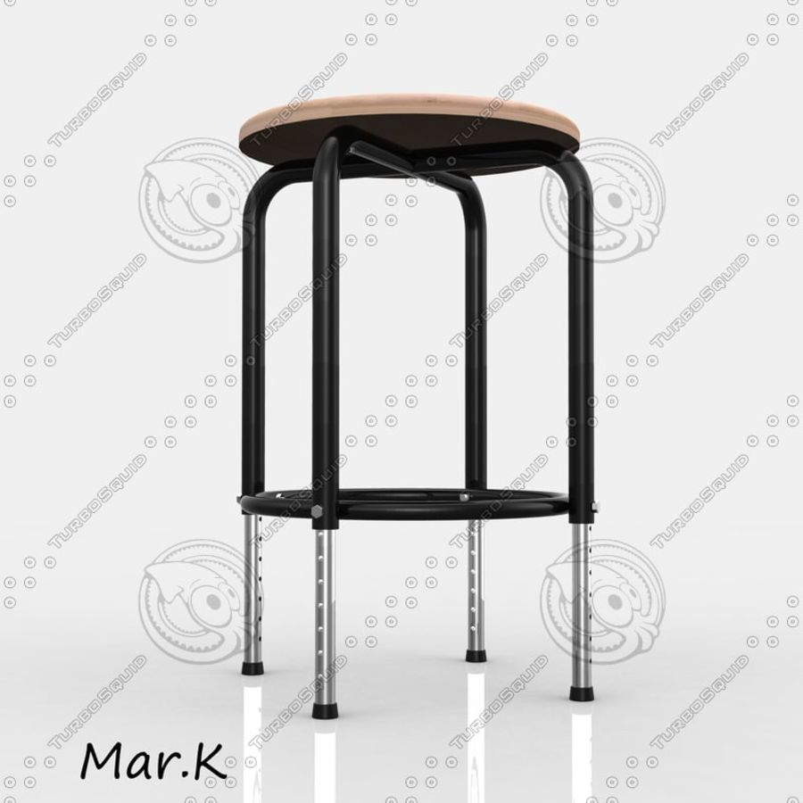 Chair Bar royalty-free 3d model - Preview no. 4