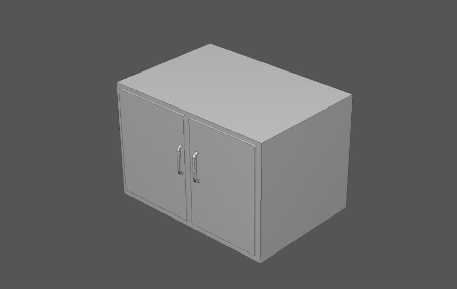 House interior items pack (Base) royalty-free 3d model - Preview no. 3