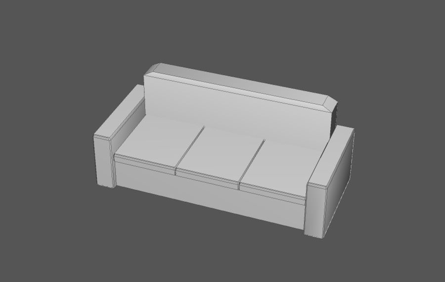 Комплект предметов интерьера дома (База) royalty-free 3d model - Preview no. 7