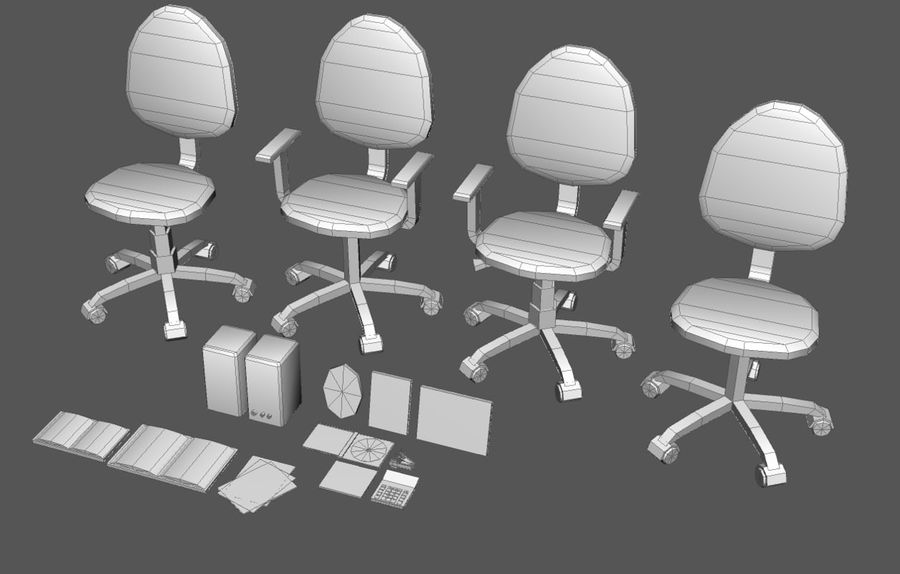 House interior items pack (Base) royalty-free 3d model - Preview no. 17