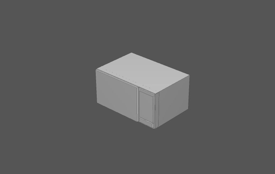 Комплект предметов интерьера дома (База) royalty-free 3d model - Preview no. 14